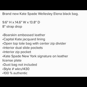 kate spade Bags - NWT Kate Spade Wellesley Elena